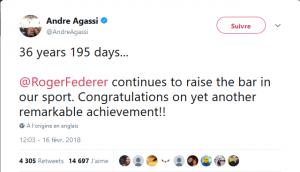 Tweet d'Andre Agassi